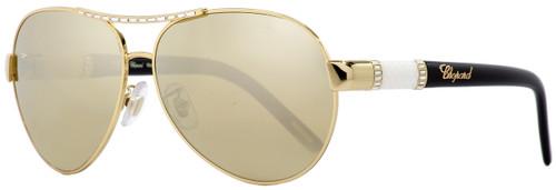 Chopard Aviator Sunglasses SCHA59S 300W Gold/Black/Ivory 59mm A59