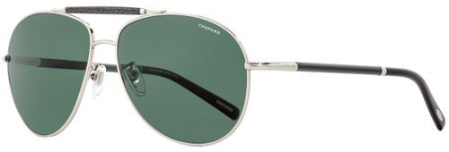 Chopard Aviator Sunglasses SCHB36 579P Palladium/Carbon Fiber Polarized 60mm B36
