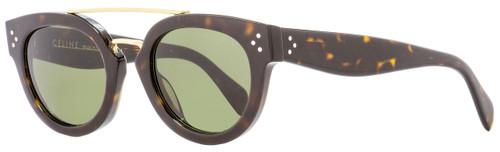 Celine Oval Sunglasses CL41043S 0861E Dark Havana 49mm 41043