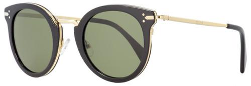 Celine Oval Sunglasses CL41373S ANW1E Black/Gold 48mm 41373