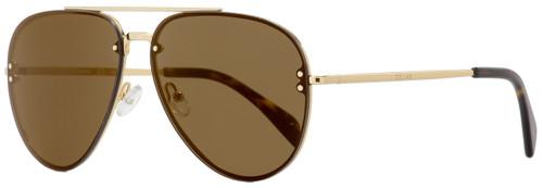 Celine Aviator Sunglasses CL41391S J5GLC Gold/Havana 60mm 41391