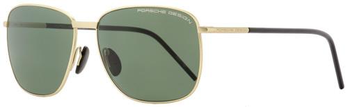 Porsche Design Rectangular Sunglasses P8630 C Satin Gold/Black 58mm 8630
