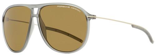 Porsche Design Oval Sunglasses P8635 C Transparent Gray/Bronze 61mm 8635