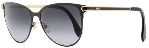 Fendi Oval Sunglasses FF0022S 7WH9O Black/Gold 57mm 022