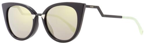 Fendi Cateye Sunglasses FF0118S AQMUE Black/Green 52mm 118