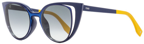 Fendi Cateye Sunglasses FF0136S NY9JJ Blue/Peach 51mm 136