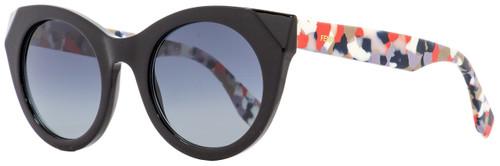 Fendi Oval Sunglasses FF0203S 738HD Black/Multicolored 50mm 203