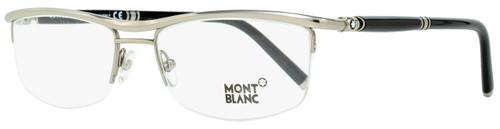 Montblanc Semi-Rimless Eyeglasses MB485U 012 Titanium/Black 57mm 485