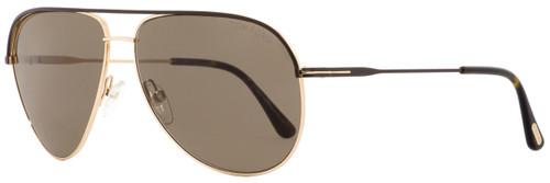 Tom Ford Aviator Sunglasses TF466 Erin 50J Brown/Gold 61mm FT0466