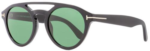 Tom Ford Round Sunglasses TF537 Clint 01N Shiny Black 50mm FT0537