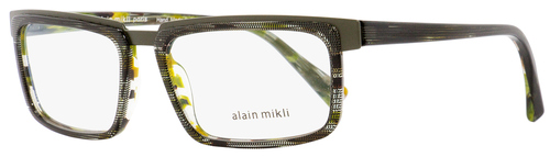 Alain Mikli Rectangular Eyeglasses A02016 C014 Green/Gray/Brown 54mm 2016