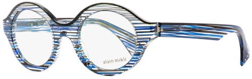 Alain Mikli Oval Eyeglasses A03020 3089 Blue/Black Striped 48mm 3020