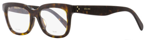 Celine Rectangular Eyeglasses CL41390F 086 Dark Havana 52mm 41390F
