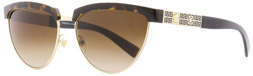 Versace Cateye Sunglasses VE2169 1252-13 Havana/Gold/Black 56mm 2169