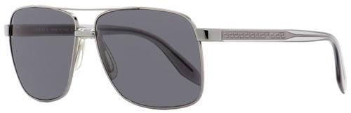 Versace Rectangular Sunglasses VE2174 1001-87 Gunmetal/Clear 59mm 2174