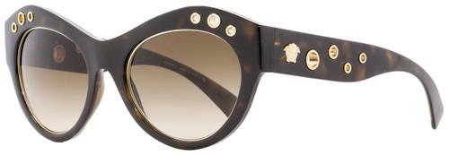 Versace Oval Sunglasses VE4320 108-13 Havana/Gold 54mm 4320