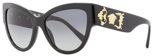 Versace Cateye Sunglasses VE4322 GB1-11 Black/Gold 55mm 4322