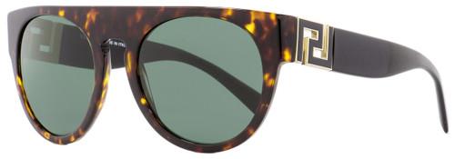 Versace Oval Sunglasses VE4333 108-71 Havana/Gold/Black 55mm 4333