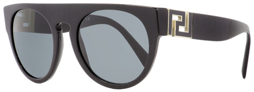 Versace Oval Sunglasses VE4333 GB1-87 Black/Gold 55mm 4333