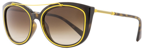 Versace Oval Sunglasses VE4336 108-13 Havana/Yellow 56mm 4336