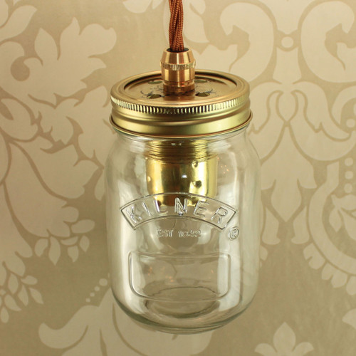 Kilner 0.5Ltr Single with Wired Lampholder [PLU76060]
