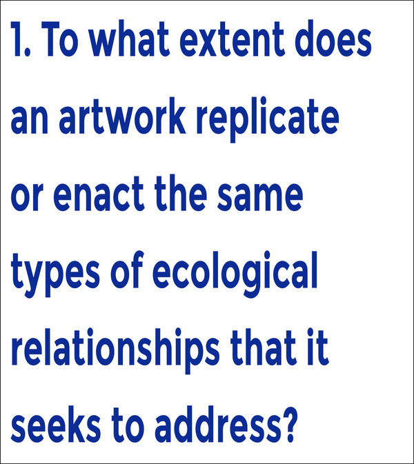 Break Down Workbook #1—Questions for evaluating art that concerns itself with ecology [PDF]