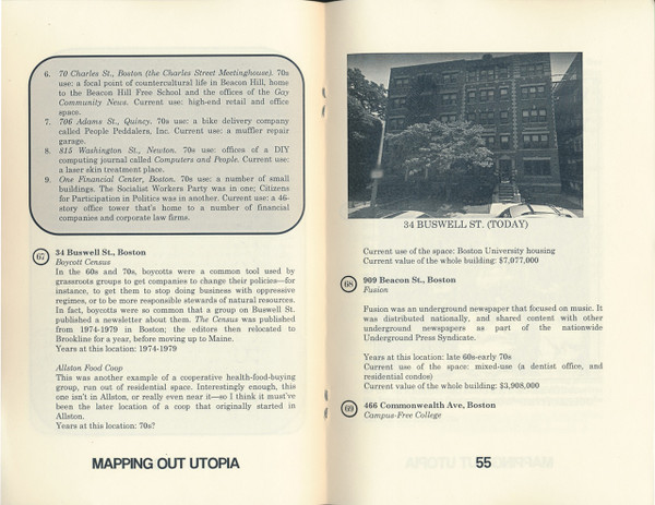Mapping out utopia: 1970s Boston-area counterculture (Book 2: Boston)