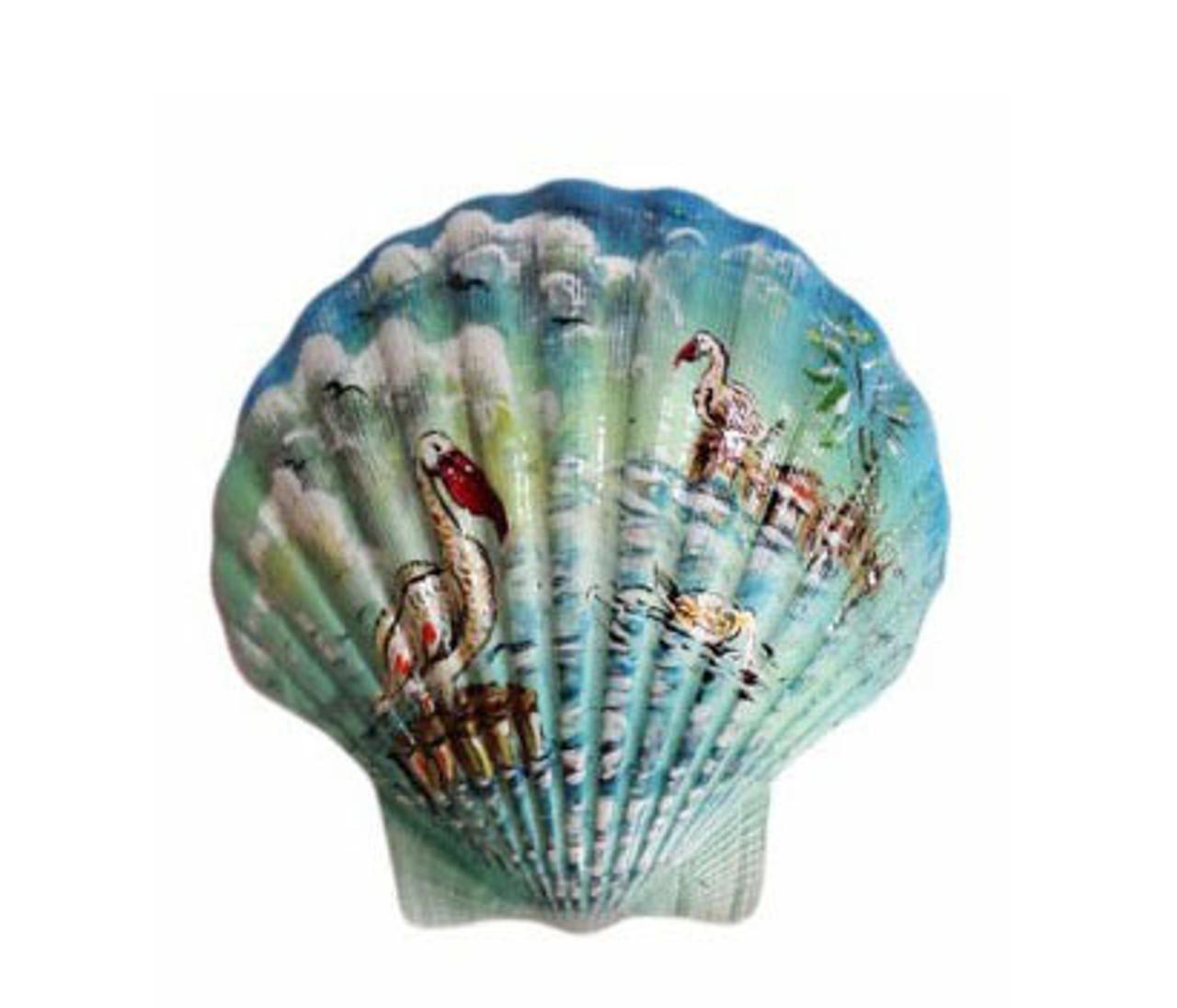Painted Irish Deep Seashell-Ocean Scene