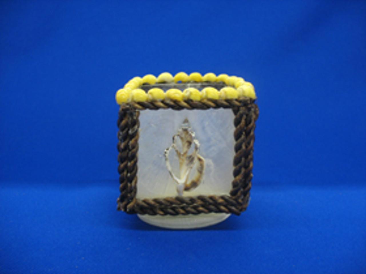 Capiz Cube Candle Holder