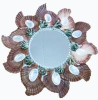 Round Mirror w/Cut Flats