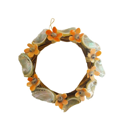 Nito Wreath with Flowers & Rope 5""