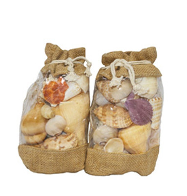 Shell Mix In Jute Bag