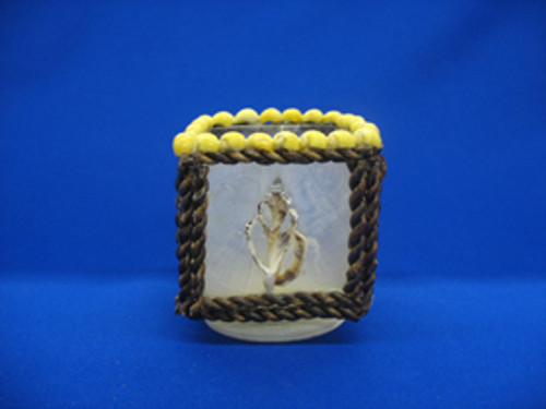 Capiz Cube Candle Holder