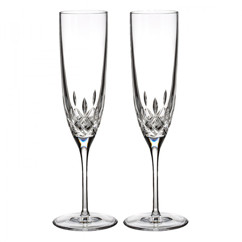 Schroeder-Killian Waterford Lismore Encore Champagne Flute, Pair