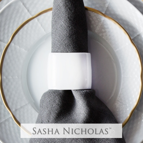 Oval Napkin Ring Simply White