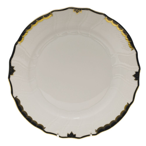 Schnoebelen-Looney Herend Princess Victoria Dinner Plate, Black