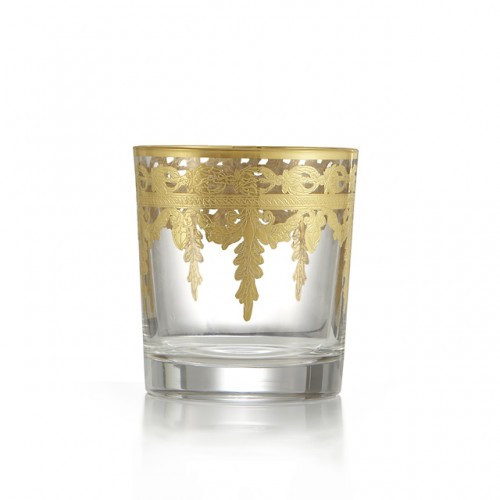 Schnoebelen-Looney Arte Italica Vetro Gold Double Old-Fashion Glass