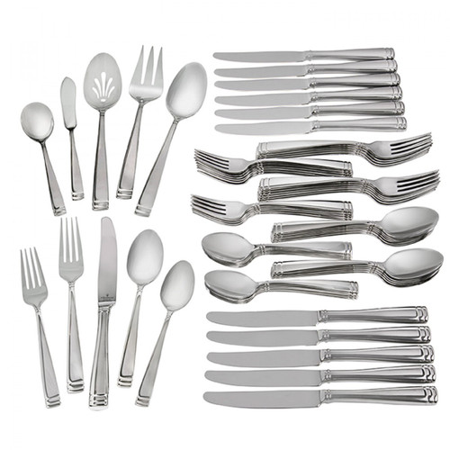 Schnoebelen-Looney Waterford Conover Stainless 65-Piece Flatware Set