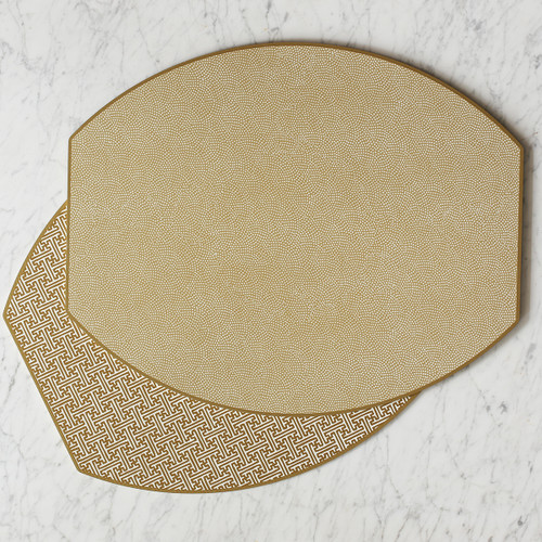 Schnoebelen-Looney Holly Stuart Ellipse Reversible Placemat, Set of 4 | Shimmer
