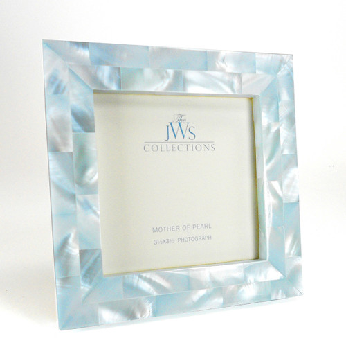 Blue Mother of Pearl Frame | 3.5x3.5