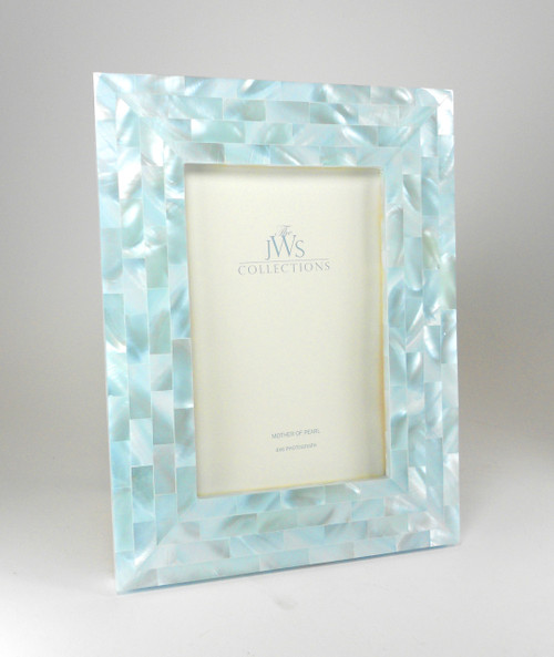 Blue Mother of Pearl Frame | 4x6