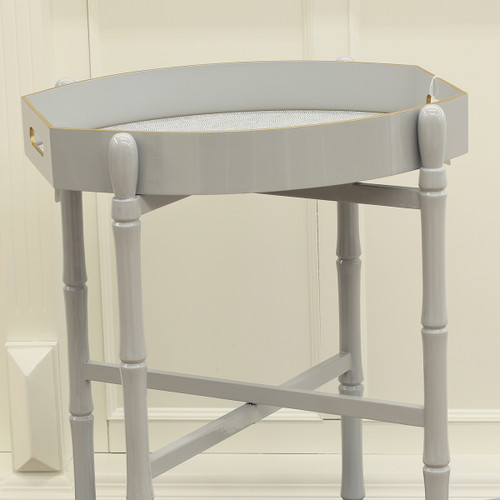 Hall-Sarver Holly Stuart Stinson Ellipse Tray+Stand+Placemat | Grey