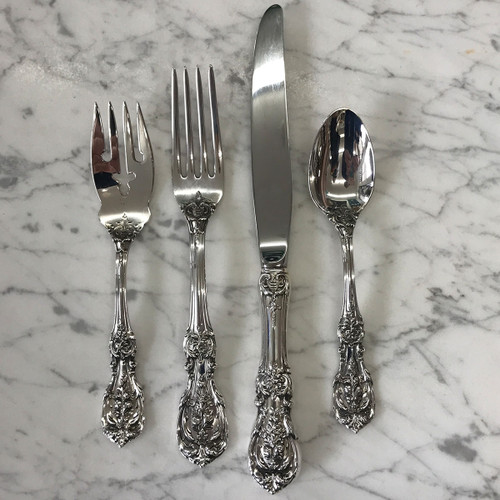 Keeler-Holekamp Francis 1st Sterling 4-Piece Place Setting