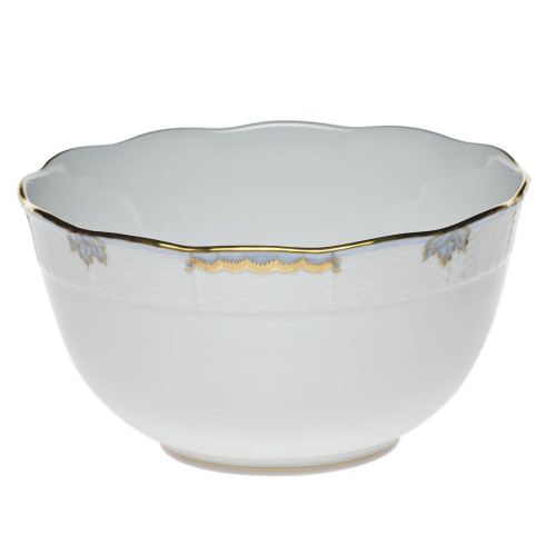 Clote-Wood Herend Princess Victoria Round Bowl, Light Blue
