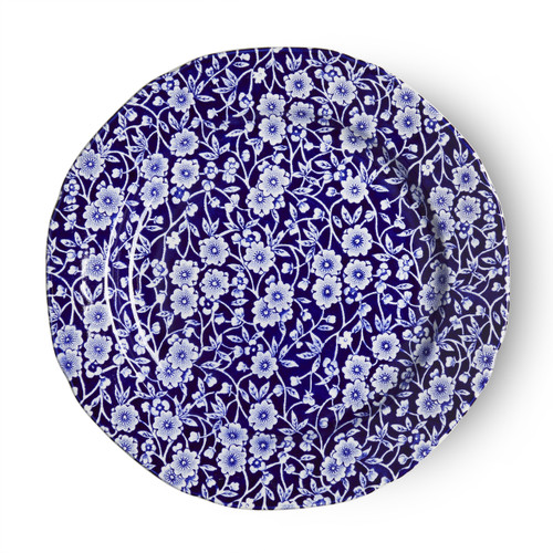 Burleigh Blue Calico Plate  Medium