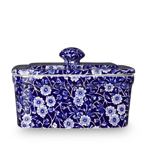Burleigh Blue Calico Butter Dish