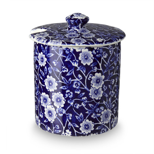 Burleigh Blue Calico Covered Jam (Straight Sided)