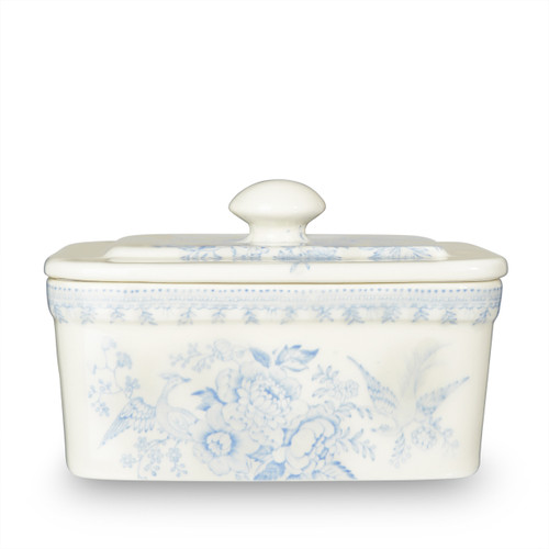 Burleigh Blue Asiatic Pheasants Butter Dish