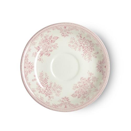 Burleigh Pink Asiatic Pheasants Tea Saucer