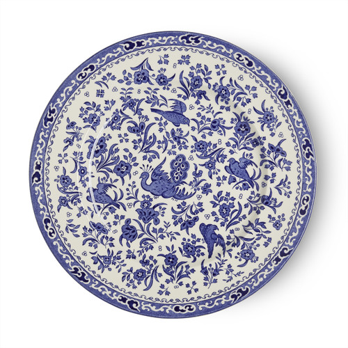 Burleigh Blue Regal Peacock Plate Large